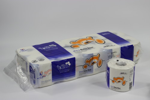 1500g米雪宝宝熊有芯有膜卷筒纸10卷