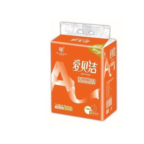 4.8斤爱贝洁双层压花大包装纸