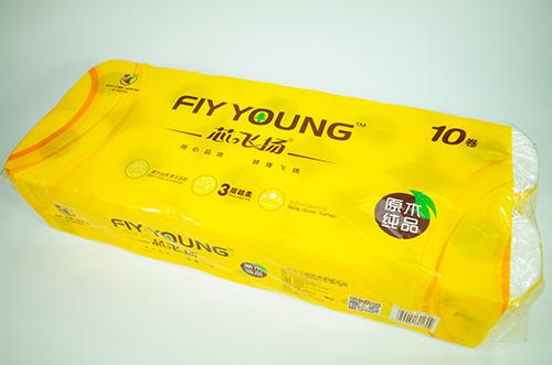 广西1400g芯飞扬纯木浆卷筒纸(10卷)