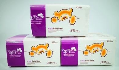 127-8包/提米雪宝宝熊软抽纸