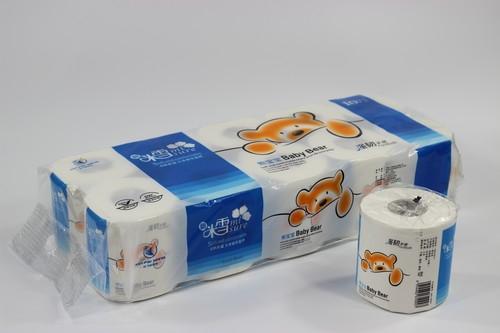 1200g米雪宝宝熊有芯有膜卷筒纸10卷