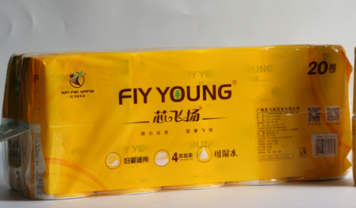 2800g芯飞扬Fly Young-Fly Young纯木浆卷筒纸(20卷)