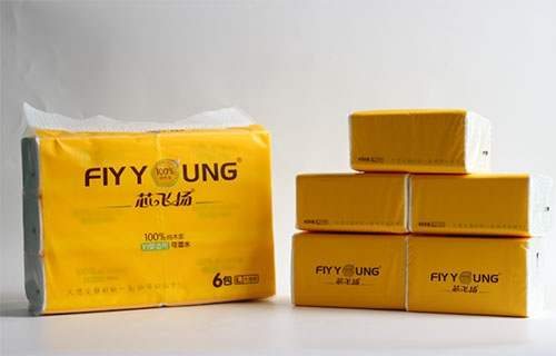 广西L号6包fly young 纯木浆精品软抽纸